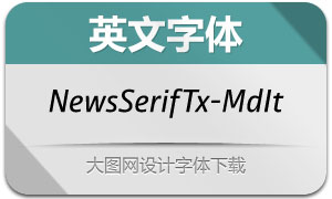 NewsSerifText-MediumIt(英文字体)