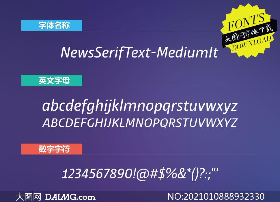 NewsSerifText-MediumIt(英文字体)