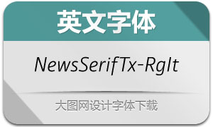 NewsSerifText-RegularIt(英文字体)