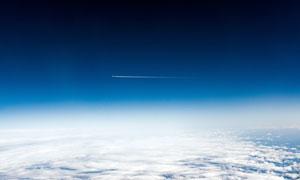 飞机上航拍天空美景摄影图片