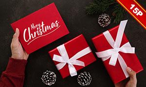 圣诞节贺卡内容效果展示模板源文件