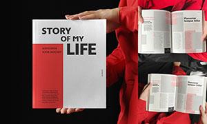杂志画册封面内页图文效果模板素材