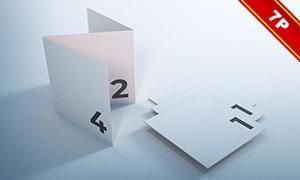 多种组合方式的折页样机模板源文件