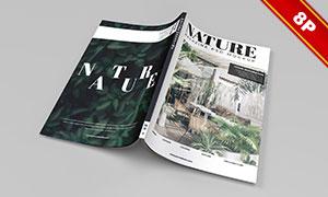杂志画册封面封底与内文等样机模板