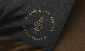 质感金色标志图案样机模板分层素材