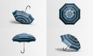 雨伞图案与标志样机模板分层源文件