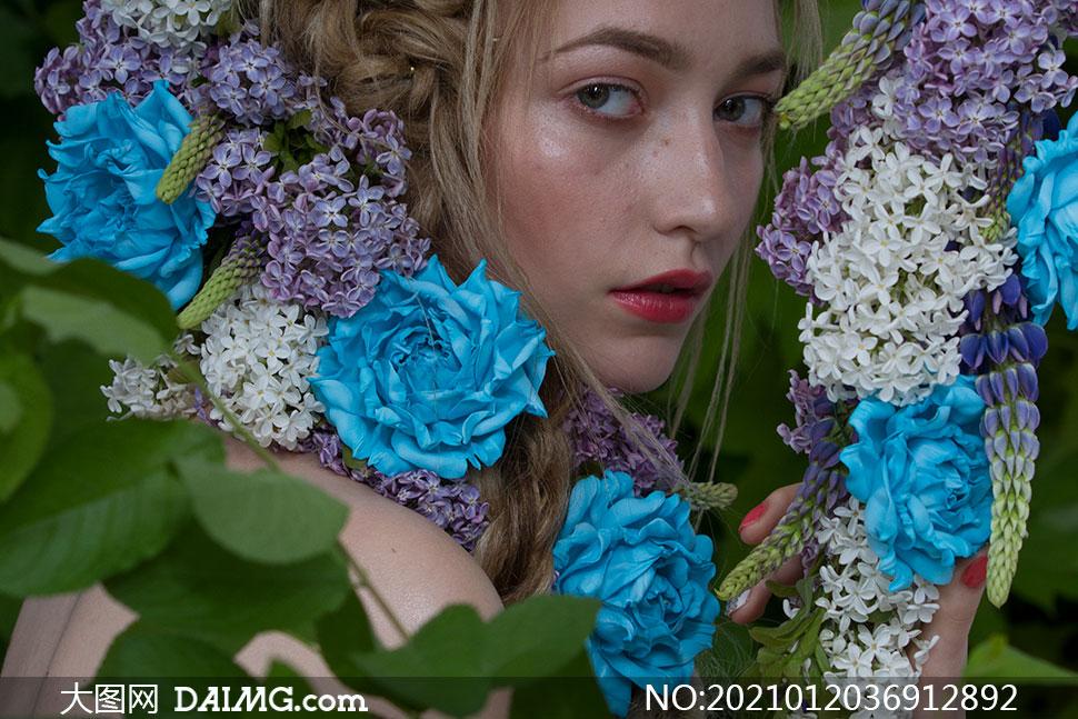 红唇美女模特特写摄影高清原片素材