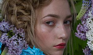 辫子发型花饰美女写真摄影高清原片