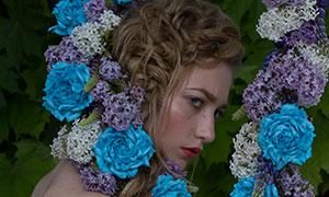 抹胸装扮性感美女人物摄影原片素材