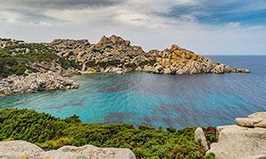 意大利撒丁岛海边风光摄影图片