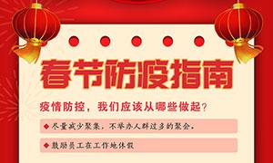 春节防疫指南宣传海报设计PSD源文件