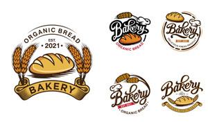 復古風格烘焙店鋪標志設計矢量素材
