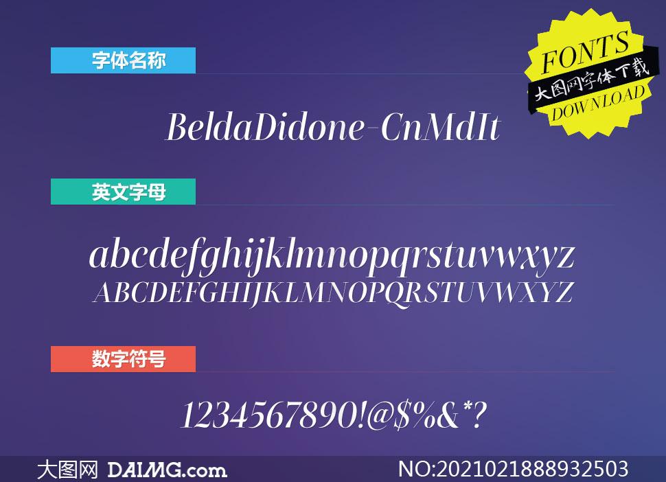 BeldaDidone-CnMdIt(英文字体)