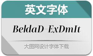 BeldaDidone-ExtendedDemiItalic(Ó¢ÎÄ×Öów)