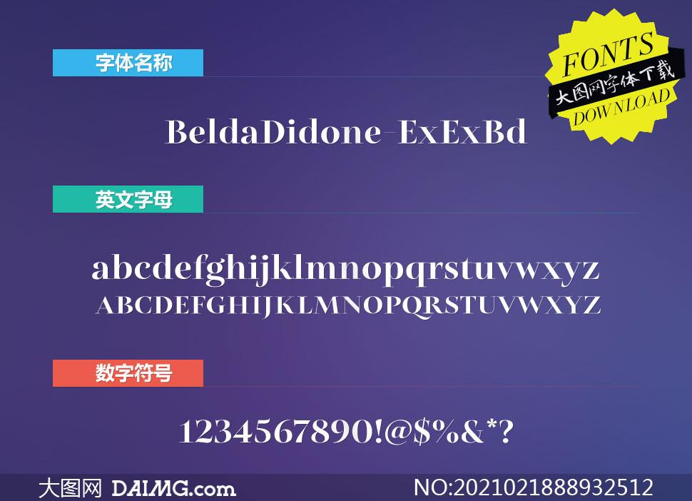 BeldaDidone-ExExBd(英文字体)