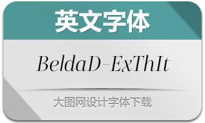 BeldaDidone-ExtendedThinItalic(Ó¢ÎÄ×Öów)