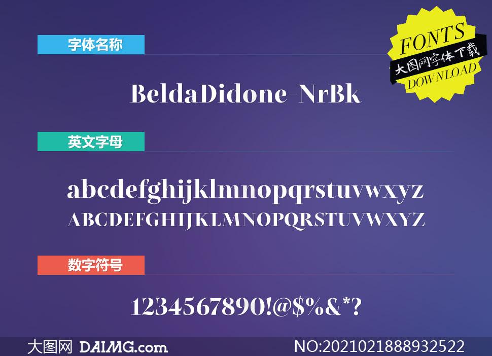 BeldaDidone-NrBk(英文字体)
