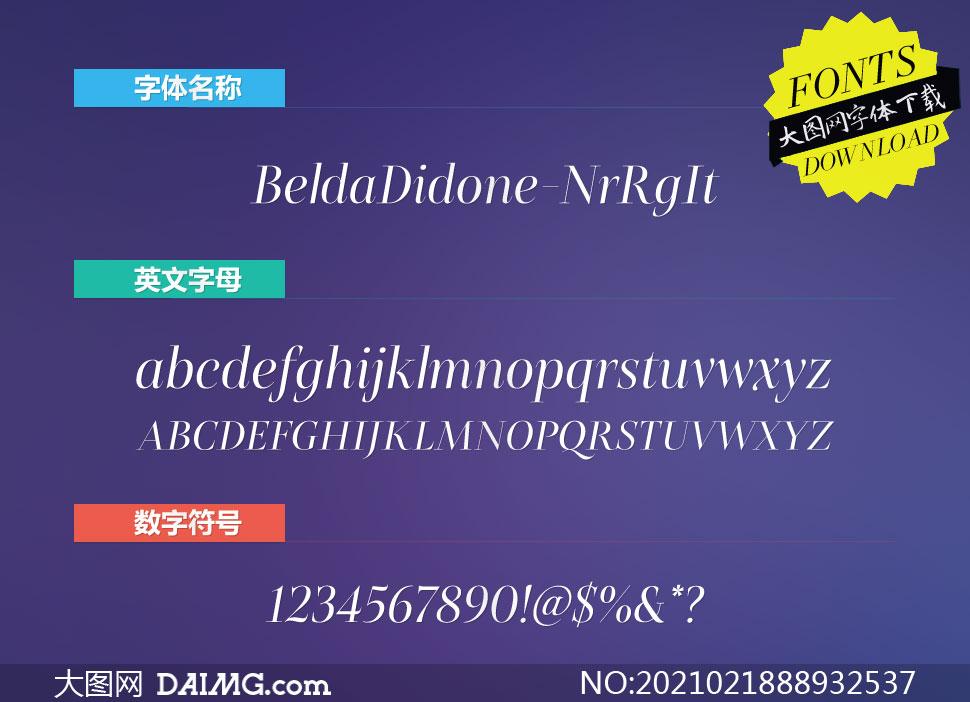 BeldaDidone-NrRgIt(英文字体)