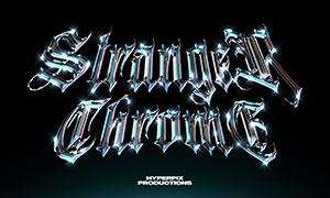 星光元素裝飾的立體字設計模板素材