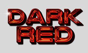 星光装饰暗红色立体字设计模板素材