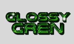 绿色光滑质感效果立体字模板源文件