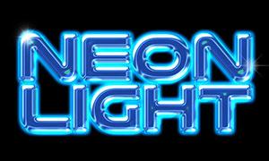 藍色霓虹光效裝飾立體字模板源文件