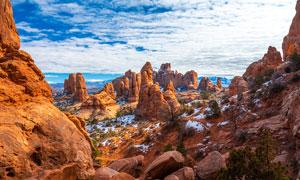 冬季奇山雪后美景高清摄影图片