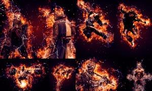 數碼照片添加火焰燃燒特效PS動作