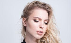雙排紐扣服飾裝扮美女模特攝影原片