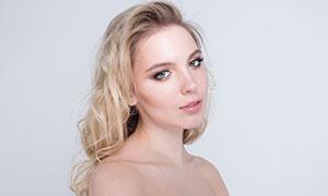精致妝容美女模特人物高清攝影原片