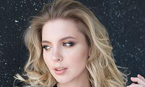 歐美金發妝容模特人物高清攝影原片