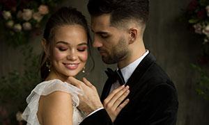 幸福戀人婚紗攝影內景高清原片素材