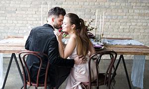 幸福開心男女情侶婚紗攝影高清原片