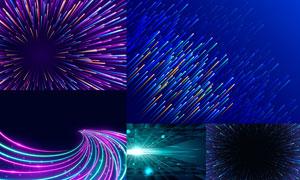 光效與炫酷繽紛抽象背景創意矢量圖