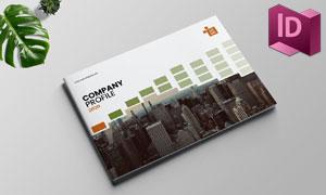 十六页A4尺寸公司画册版式模板素材