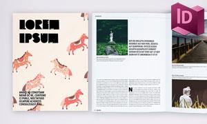 画报杂志内页图文版式设计模板素材