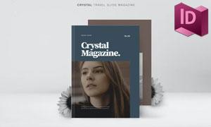 旅游指南主题杂志画册版式设计模板