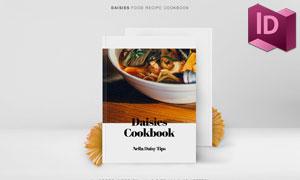 餐厅美食菜谱画册版式设计模板素材