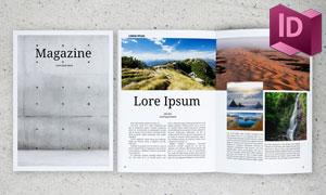 二十二页杂志画册图文版式模板素材