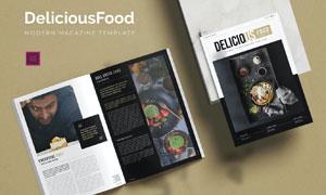 美味食品主题杂志画册版式模板素材