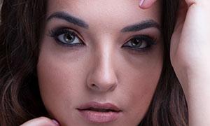 中分發型妝容美女特寫攝影高清原片