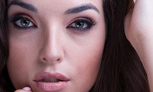 黑發美女人物妝容特寫攝影高清原片