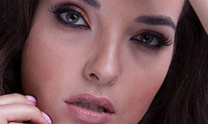 黑發美妝模特人物寫真攝影原片素材