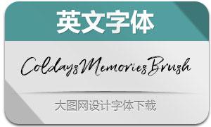 ColdaysMemoriesBrush(英文字体)