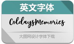 ColdaysMemoriesScript(英文字体)