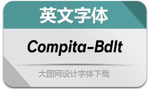 Compita-BoldItalic(英文字体)