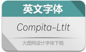 Compita-LightItalic(英文字体)