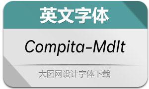 Compita-MediumItalic(英文字体)