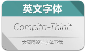 Compita-ThinItalic(英文字体)