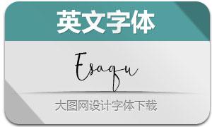 Esaqu(英文字体)